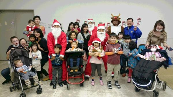 2015年12月26日【社会奉仕活動】横浜市地域訓練会れいんぼー主催「クリスマス会」に参加