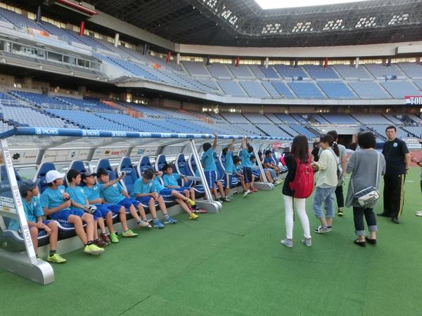 東日本大震災 被災地支援活動 選手入場待ちの子どもたち